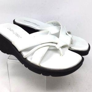 Cabin Creek Women's Dress Sandals Size 8M White